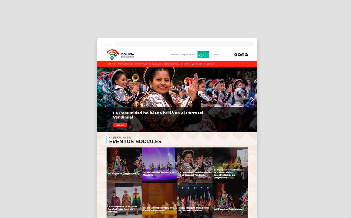 Sitio Web de Bolivia En Argentina