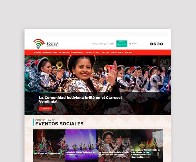 Diseño páginas web para Bolivia en Argentina